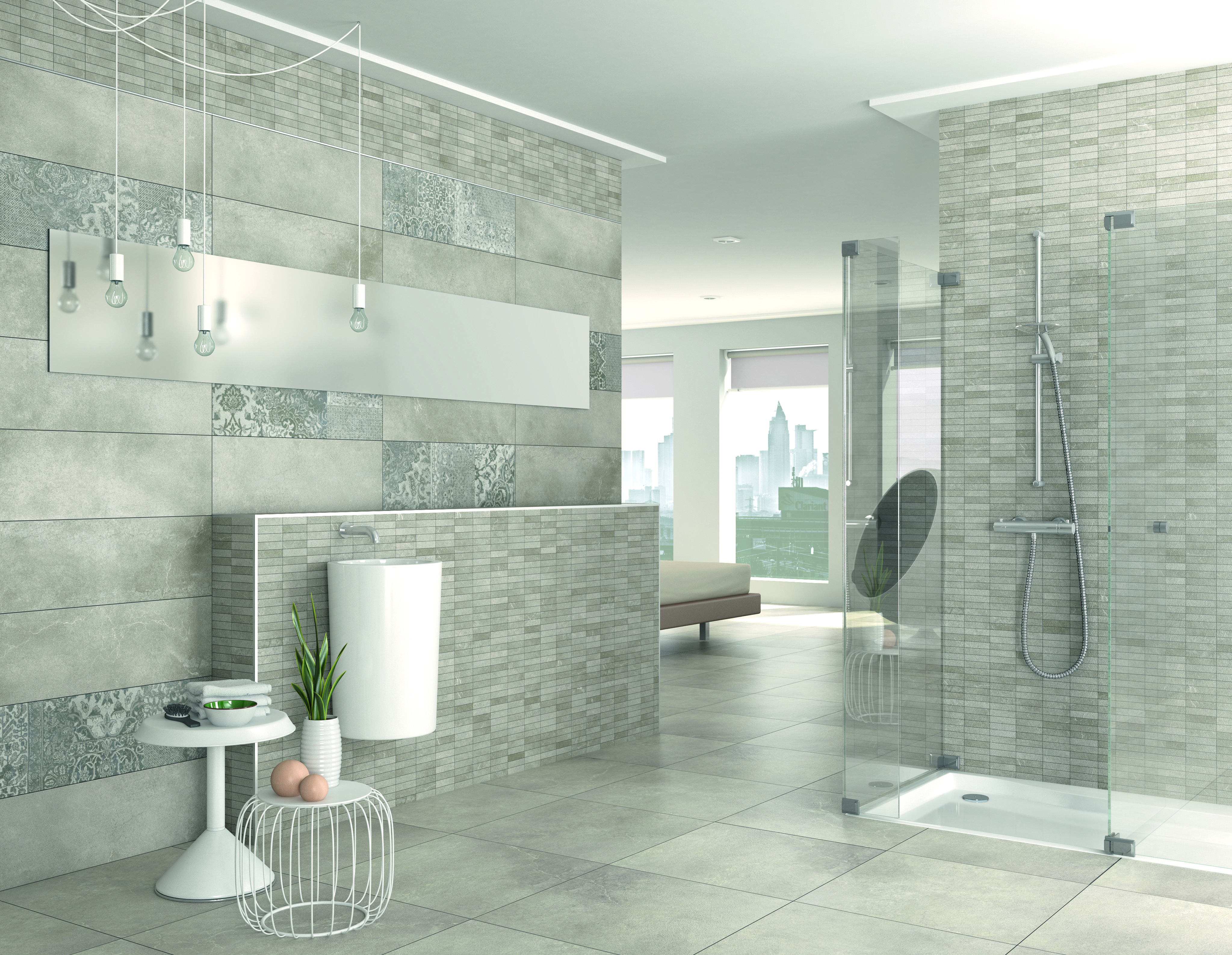 Beige urbanity and galata beige porcelain tiles h v for Faience murale salle de bain