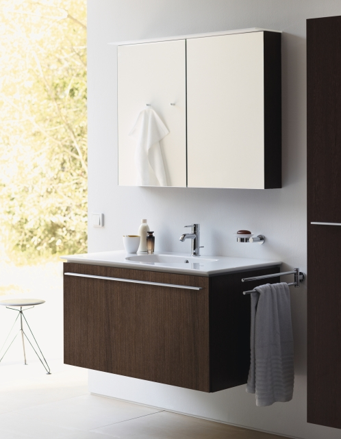 X Large Wall Mounted Vanity Unit With One Drawer 2door Mirror Cabinet H V Bathrooms Tiles