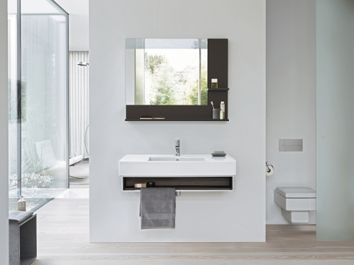 Vero Wallmounted Vanity Unit With Open Compartment With