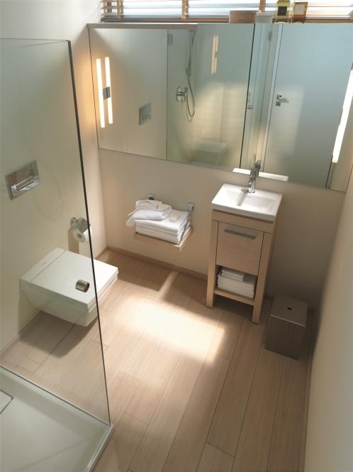 2nd Floor Beech Finish Floor Standing Vanity Unit And