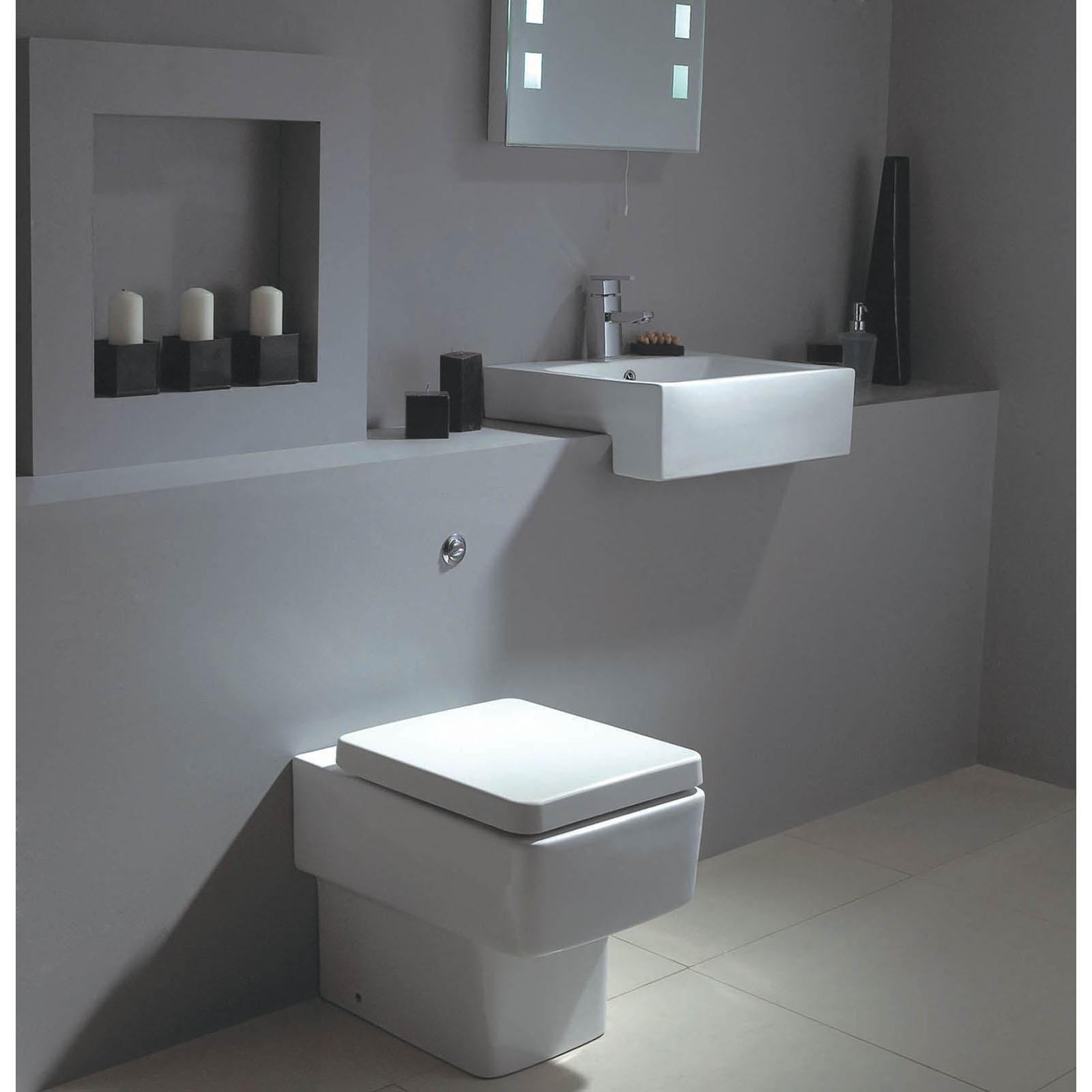 qube semi recessed basin h v bathrooms   tiles Mirrored Furniture Mirror Dresser Set