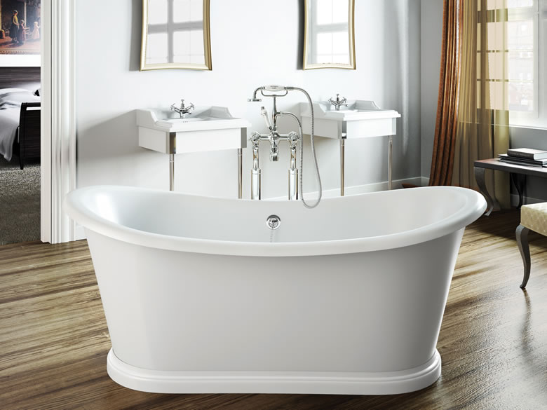 Clearwater Traditional Boat Free Standing Bath 1650mm