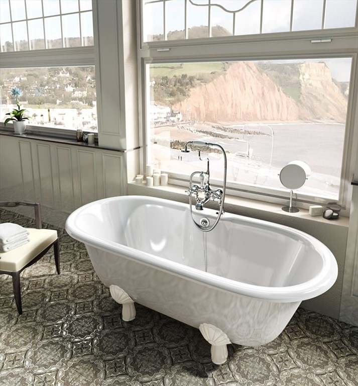 Bathroom Vanities Clearwater Fl: Clearwater Classico Natural Stone Bath With White Claw