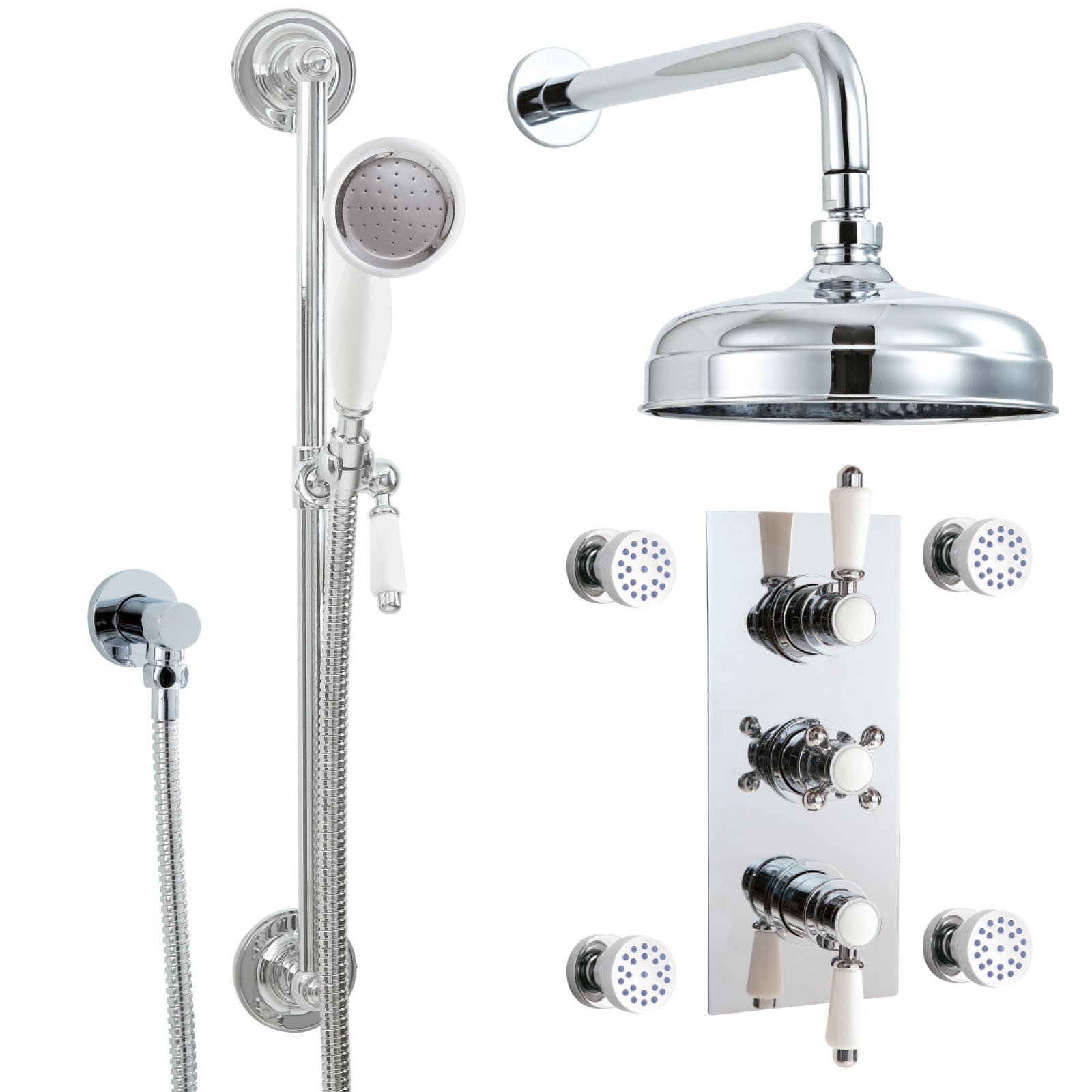 Phoenix HF Series Triple Thermostatic Shower Valve Pack With Body ...