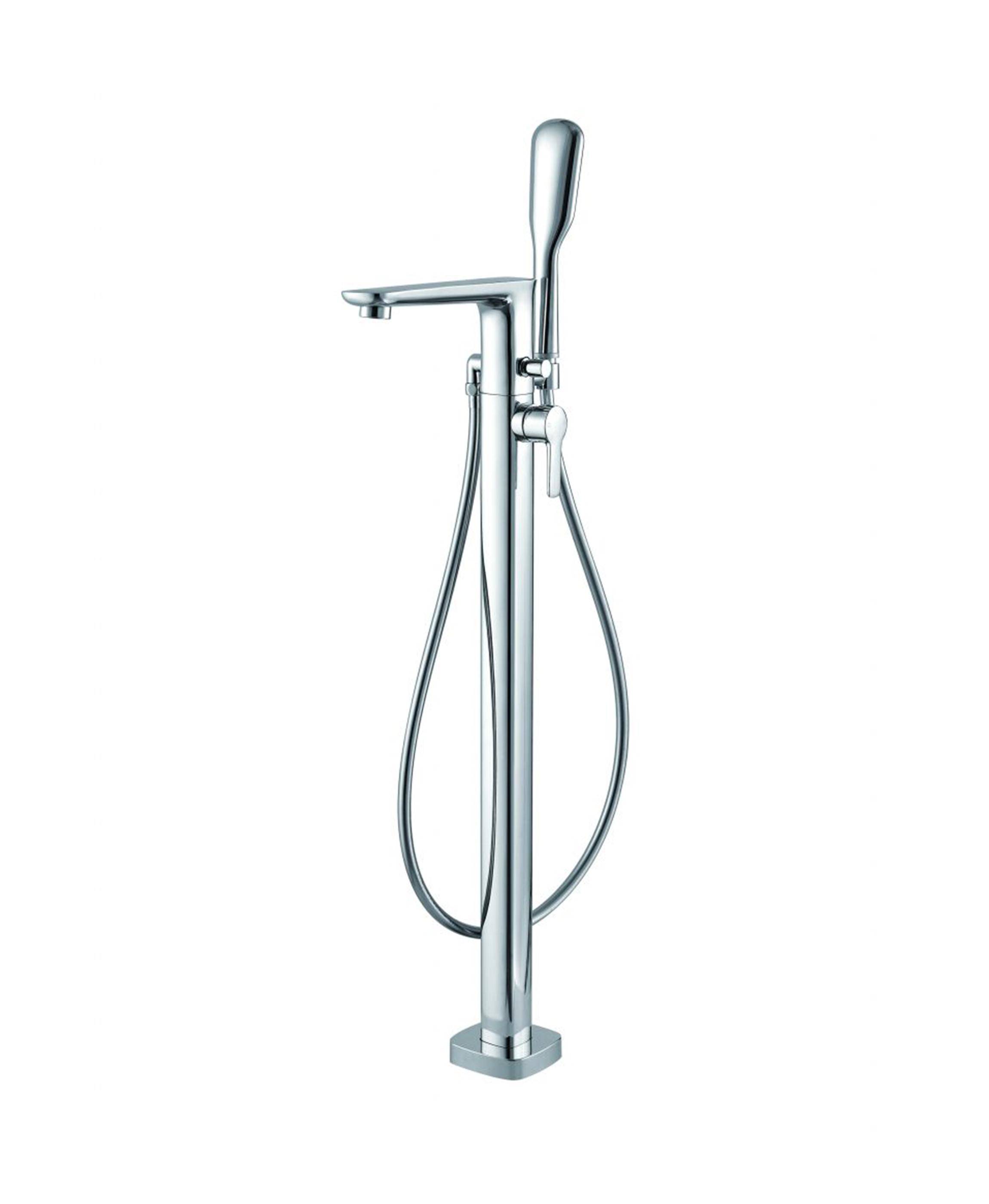 rain freestanding bath shower mixer with handset h v bathrooms tiles. Black Bedroom Furniture Sets. Home Design Ideas